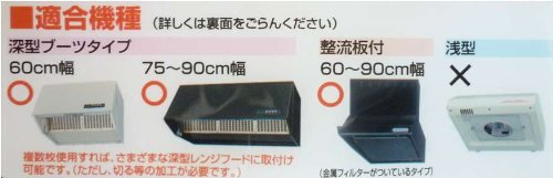 東洋アルミ お徳用6枚入パッと貼るだけ深型用フィルター60cm 2783